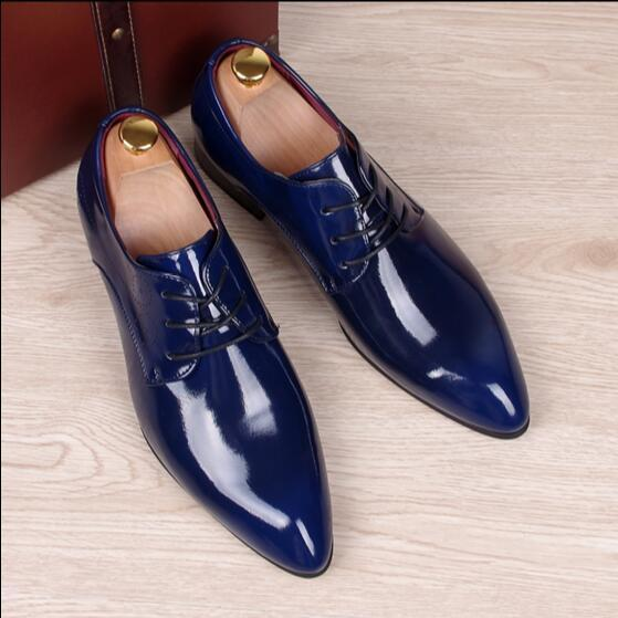 De gran Tamaño Zapatos de La Boda de Negocios Británicos Zapatos de Cuero Ocasionales de Los Hombres Pisos Mocasines Antideslizantes Transpirable 02