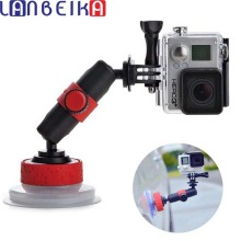 LANBEIKA 360 Degree Rotating Suction Cup for Gopro Hero 9 8 7 6 5 Session DJI Yi 4K SJCAM Car Window Glass Suction Cup Holder