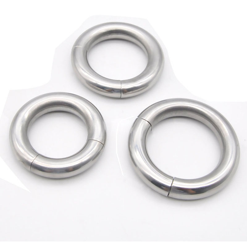 Magnetic Metal Cock Rings For Men On The Dick Stainless Steel Penis Ring Adult Sex Toys Cockring Scrotum Ball Stretcher Weights male penis scrotum bondage cock rings stainless steel ball stretcher testicles ring ballstrecher metal cockring sex toys for men