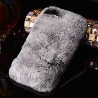 Luxury 3D Lazy Rabbit Fur Hair Diamond Case Rhinestone Crystal Phone Cover Fundas Capa Coque For