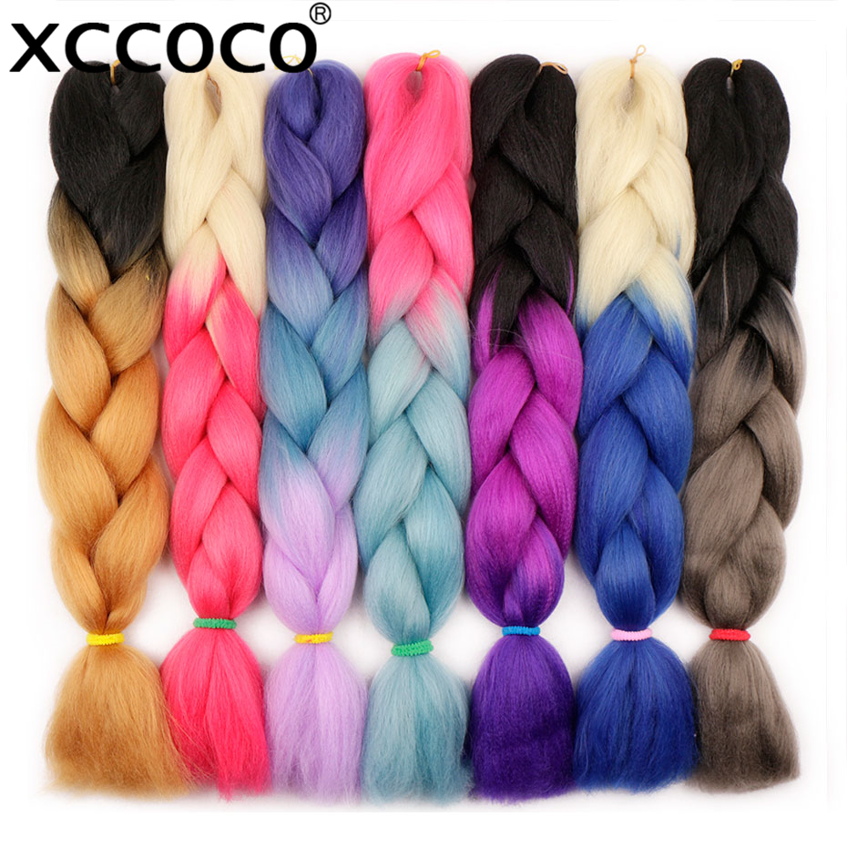 Hair Braids Miss Rola 100g Synthetic Jumbo Braids Hair 24 Inch High Temperature Fiber Jumbo Brading Ombre Crochet Braiding Hair Extensions Hair Extensions & Wigs