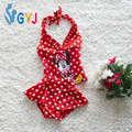 Mickey Baby swimwear girls 12.5-19kg red baby swimsuits tute dot infant toddler girls swimwear swim suit bathing suits for girls