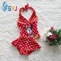 Mickey Del Bebé del traje de baño niñas 12.5-19 kg bebé rojo trajes de baño tute dot infant toddler niñas traje de baño del traje de baño trajes para niñas