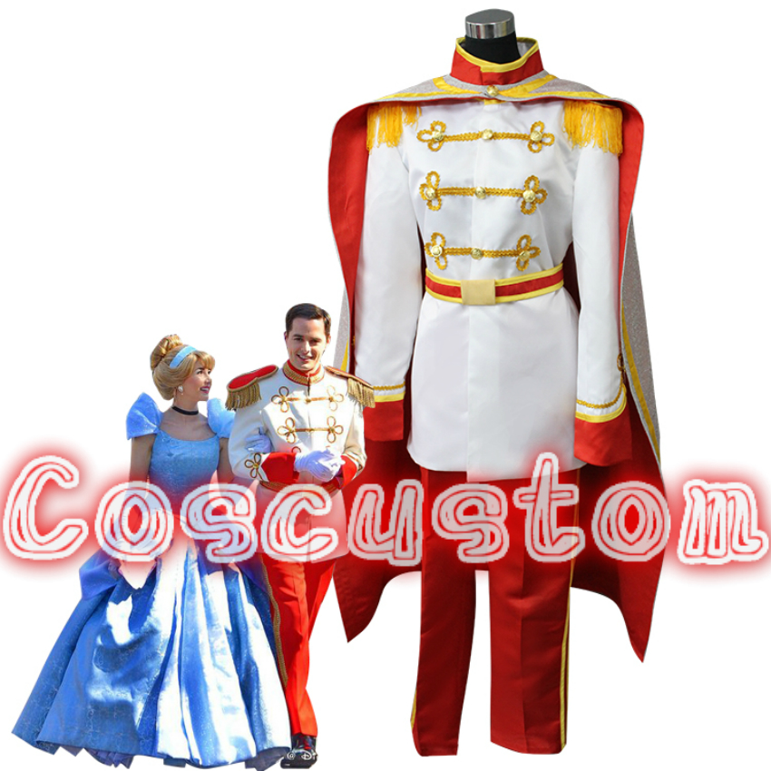coscustom high quality cinderella adult men prince charming costume full set outfit halloween cosplay costume - Prince Charming Halloween Costumes