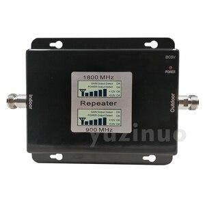 Image 5 - 65dB Gain 17dBm LCD affichage double bande Booster 2G GSM 900 4G DCS/LTE 1800 cellulaire Mobile répéteur de Signal amplificateur jusquà 500sqm