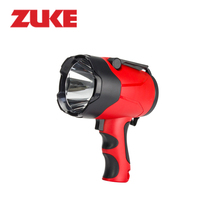 ZuKe 10W Powerful Long-range Led Spotlight Alkaline Battery Heavy Duty Searchlight Night Lamp For Camping Hiking Flash Light