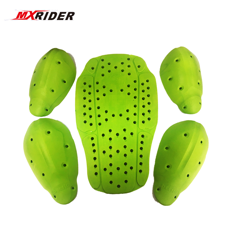MXRIDER CE protector Body Armor motorcycle jacket protective armor include 1 back pad 2 elbows 2 shoulder protection