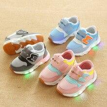 ZYJ/детская повседневная обувь со светодиодный подсветкой, детские спортивные кроссовки, летняя обувь для мальчиков и девочек, светящаяся мягкая подошва, дышащая сетчатая блестящая обувь