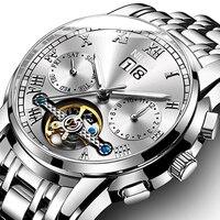 NIBOSI Mens Watches Top Brand Luxury Full Steel Automatic Mechanical Men Watch Classic Male Clocks High Quality Sport Watch