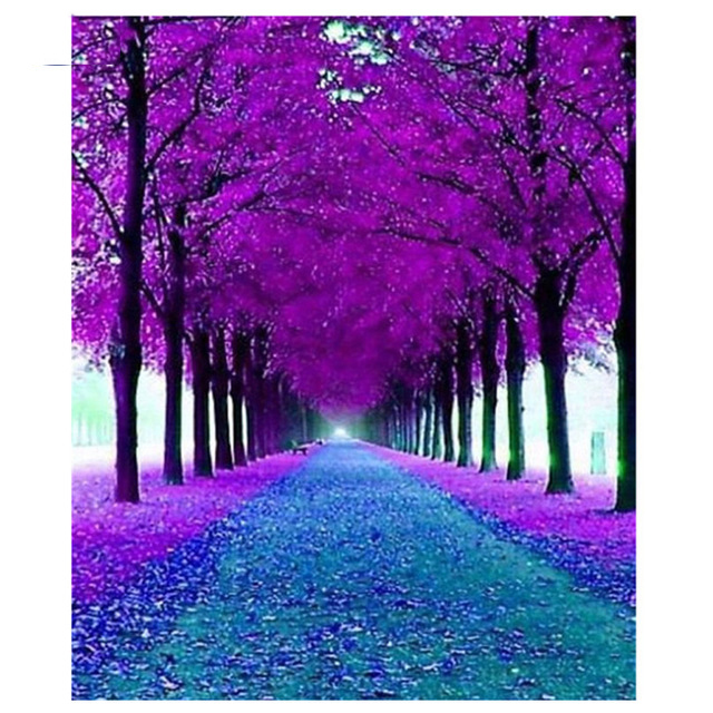 5d diamond painting Purple leaves embroidery sale square drill full NEW Arrival custom photos rhinestones art in Diamond Painting Cross Stitch from Home Garden