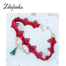 Christmas Tree Necklaces Women Girl Love Letter Party Dress Accessories New Design Neck Ornament Jewelry Necklace
