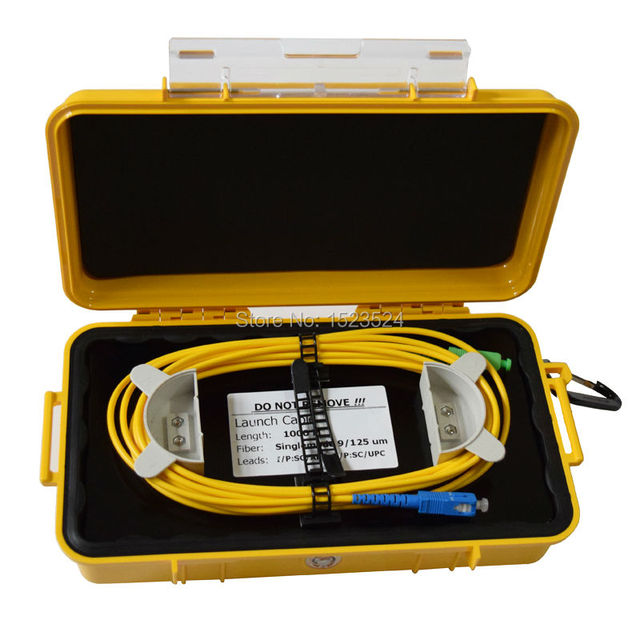 OTDR Dead Zone Eliminator,Fiber Rings ,Fiber Optic OTDR Launch Cable Box 1km SM 1310/1550nm