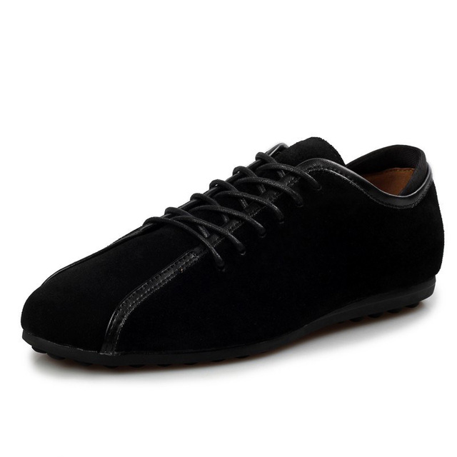 JUNJARM 2018 Handmade Men Flat Shoes Genuine Leather Mens Loafers Shoes Cow Suede Men Casual Shoes Soft Men Outdoor Shoes