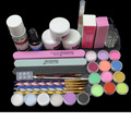 FT-133 free shipping Acrylic Liquid ,acrylic powder ,bruch set ,nail art acrylic nail kit ,nail art tools