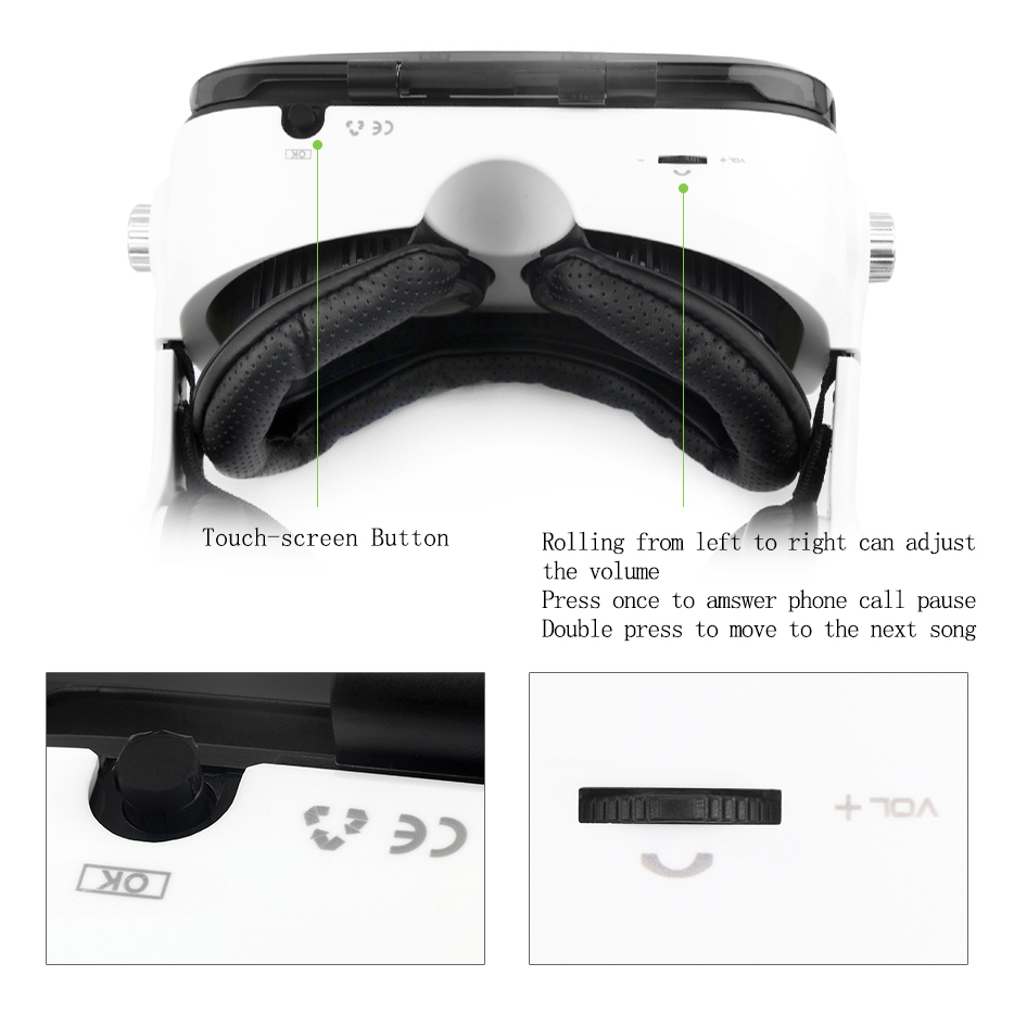 2016 BOBOVR Z4 (4.0 Version) Google cardboard VR BOX with Headphone VR Virtual Reality 3D Glasses For 4.7 - 6.2 inch Smartphone
