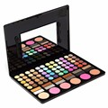 2016 New Sale 78 Colors Pro Eyeshadow Blush Lip Gloss Combination Plate Makeup Kit Box With Mirror Women Contour Palette Tools