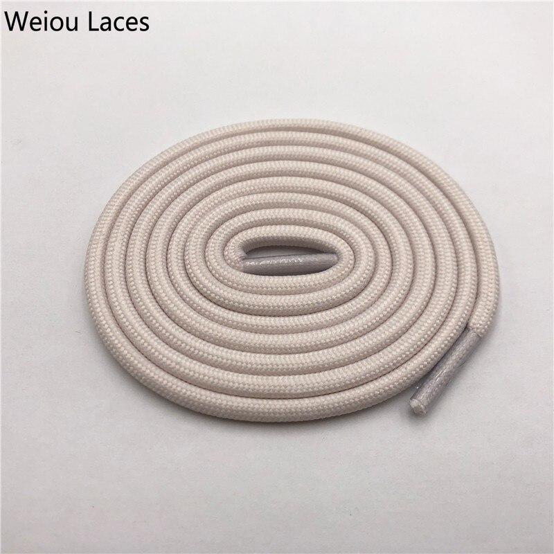 Weiou 0,5 см круглые спортивные шнурки из полиэстера толстые походные шнурки одежда веревка для скалолазания шнурки для ботинок Детские мужские - Цвет: 2717Beige White