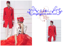 Isram Muslim Wedding Clothing Uniform Bride Wedding Dress Free Shipping Clothing Sets (for Bride + Groom)