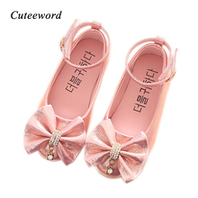 Girls leather shoes children girls baby princess shoes bowknot pearl diamond kids dance shoes fashion spring autumn new flats in the spring of the new brand princess girls shoes shoes fashion bud children shoes