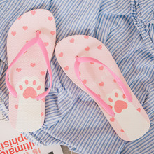 лучшая цена New 2019 Summer Beach Flip Flops Sandals Women's Slippers Female Flat Sandals Flip Flops Non-slip slippers TUX1