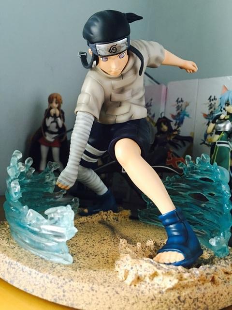FÃS MODELO IN-STOCK 18 cm NARUTO Hyuga Neiji GK resina feito toy figura para Coleção de Artesanato