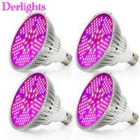4 stks/partij 100 W LED Grow Light Volledige Spectrum AC85 ~ 265 V E27 LED Plantengroei Lamp LED Lamp voor Indoor Kas Plant Bloem Vegs