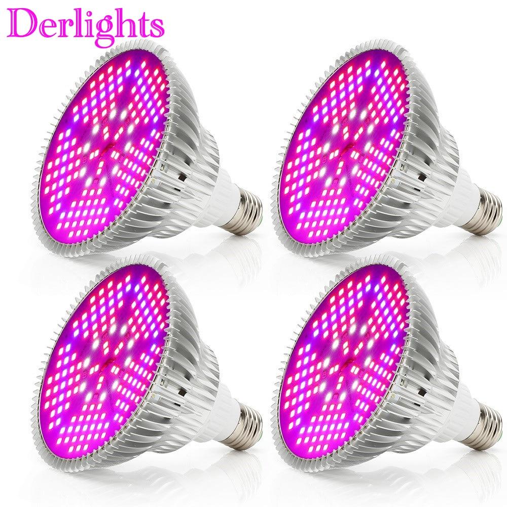 4pcs/Lot 100W LED Grow Light Full Spectrum AC85~265V E27 LED Plant Lamp Growth LED Bulb For Indoor Greenhouse Plant Flower Vegs