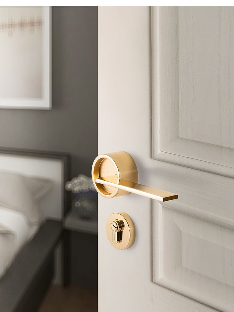 US $42.47 |New Nordic door lock for solid wood interior doors modern  minimalist interior Bedroom door Handle Pull Set Multi Color-in Door Locks  from ...