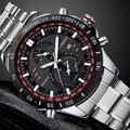 Новый Curren Роскошные часы Мужчины Кварцевые Часы Человек, Полный Стали Смотреть Моды Случайные Часы Дата Спорт Военные Наручные Часы Водонепроницаемые