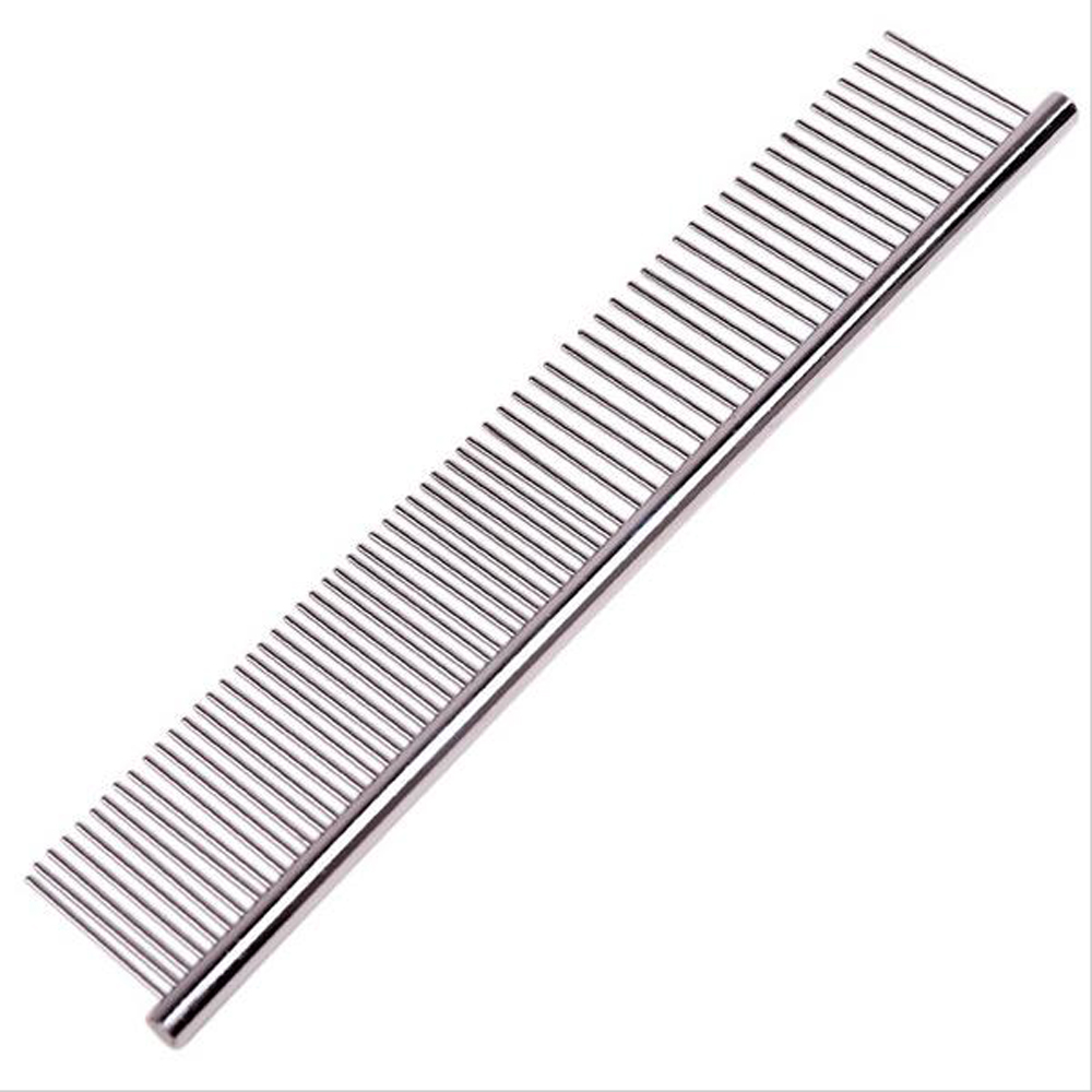 High quality Pet Dog Combs 18.5cm length Stainless Steel Hair Trimmer Dog Cat Combs For Shaggy Dogs Barber Grooming Tools