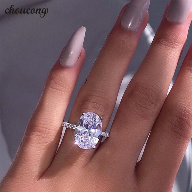 Choucong Klassische Versprechen Ring 925 sterling Silber Oval cut 3ct AAAAA Zirkon Sona cz Engagement Hochzeit Band Ringe Für Frauen männer