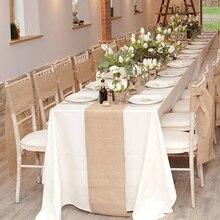 30cmX10m Table Runner Natural Vintage Jute Hessian Burlap Ribbon Rustic Weddings Belt Strap Floristry Wedding Party Decor Craft