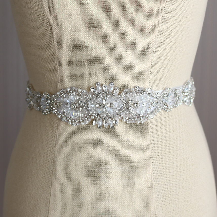 Wedding Gown Belts And Sashes: Bridal Dresses Belt Wedding Sash Luxury Diamond Crystal