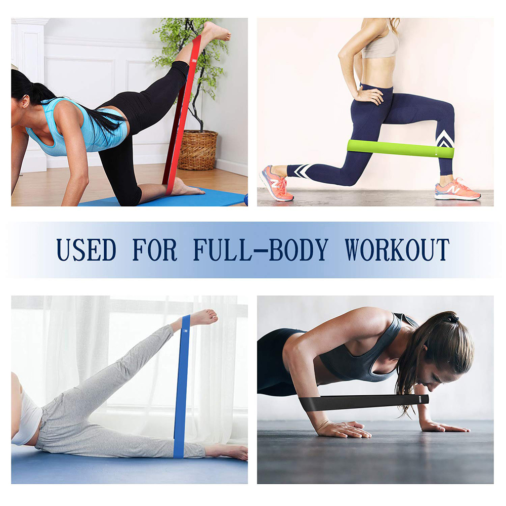 Yoga Resistance Bands 5 Colors Resistance Loop Stretching Pilates Fitness Equipment Gym Home Sport Training Workout (5lb- 25lb) 3