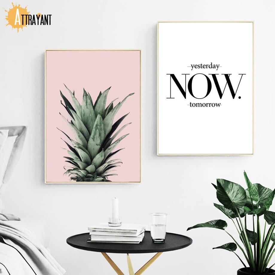 Citate Despre Arta Fotografie : Attrayant citate de ananas placi și printuri pictura pe panza