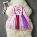 New Kids Dresses For Girls Autumn Winter Dress Unicorn Party Dress For Girls Costumes Vestidos Girl 3 4 5 6 7 8Years Clothes