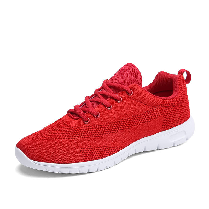Printemps été chaussures de course à bas prix nouvelles chaussures pour hommes cravate Net chaussures décontractées hommes léger respirant chaussures de sport grande taille 37-47