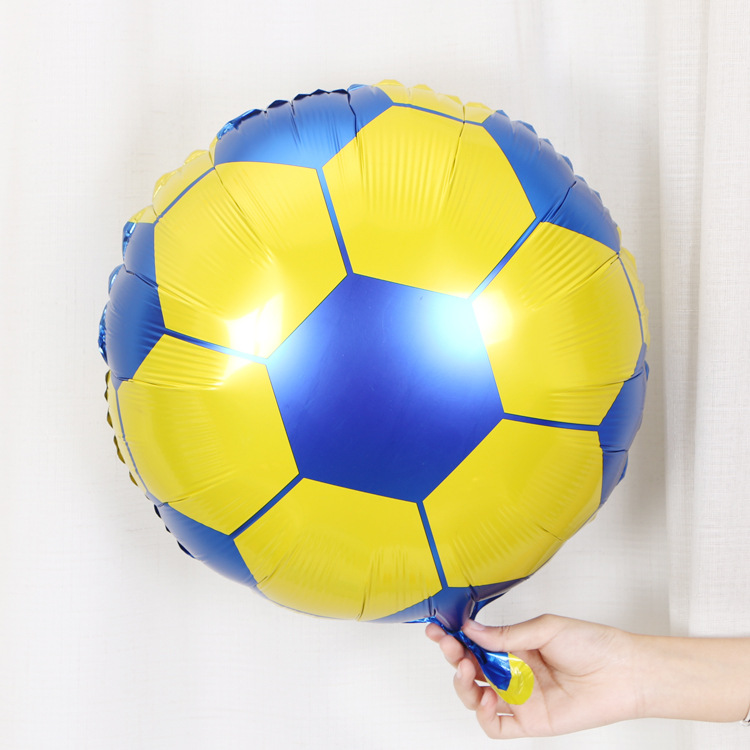 Cartoon Hat 18 Inch Round Football Aluminum Balloon Ball Party Decoration Children's Toys Wholesale