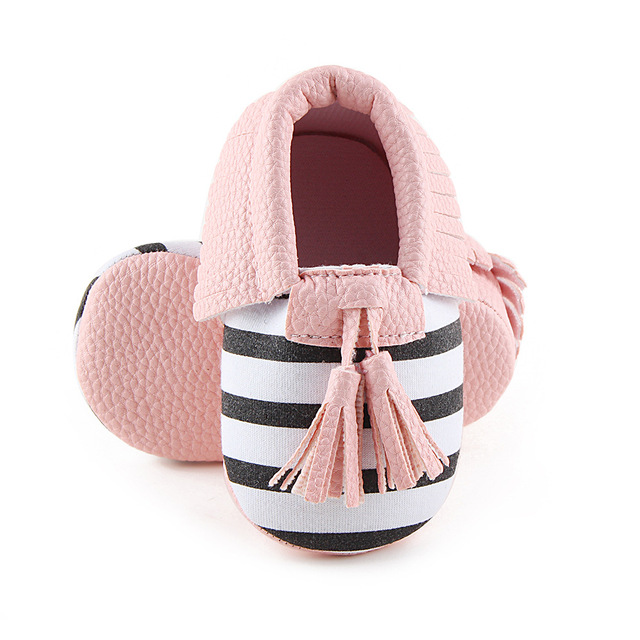 No logo Fringe Baby Moccasin Newbron Baby First Walker Soft Bottom Baby  Shoes Kids PU Leather Prewalkers Boots c2b28f5e53b7