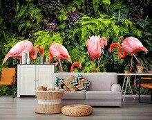 [Self-Adhesive] 3D Tropical Flamingo Ins 208 Wall Paper mural Print Decal Murals