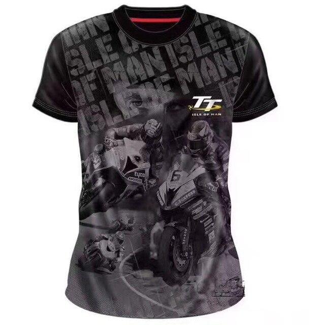 fabcbd06a ISLE OF MAN Short Sleeve TT RACE T-shirt Cotton Tops Tee Racewear Shocker Dirt  Bike Jersey kawasaki Motorcycle tee shirt O-Neck