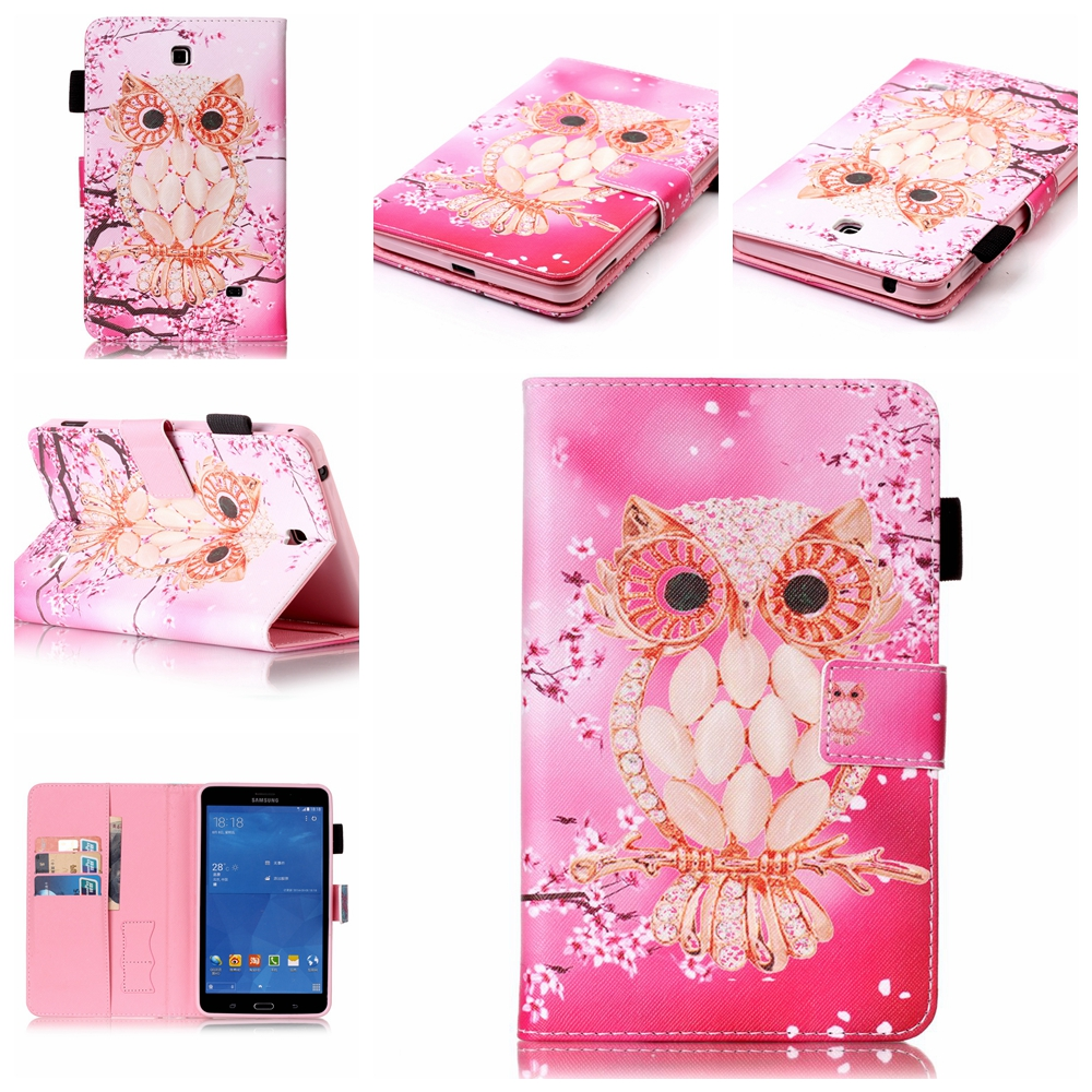 все цены на  For Samsung Galaxy Tab A T580 T585 SM-T580 SM-T585 PU Leather Stand Cover Case For Galaxy Tab T230 T377 T550 T560 T715 T815 #T  онлайн