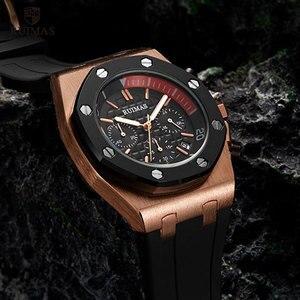 Image 4 - RUIMAS 24 Hours Quartz Watches Men Luxury Sports Army Chronograph Wristwatch Top Brand Relogios Masculino Clock Watch R540 Rose