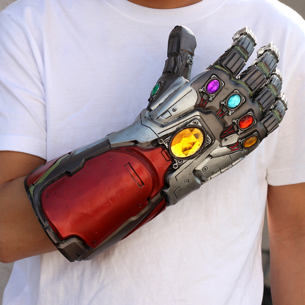 Iron Man Infinity Gauntlet Avengers 4 Thanos Gauntlet Cosplay Gloves Avengers Endgame Tony Stark Costume Accessory Party Props