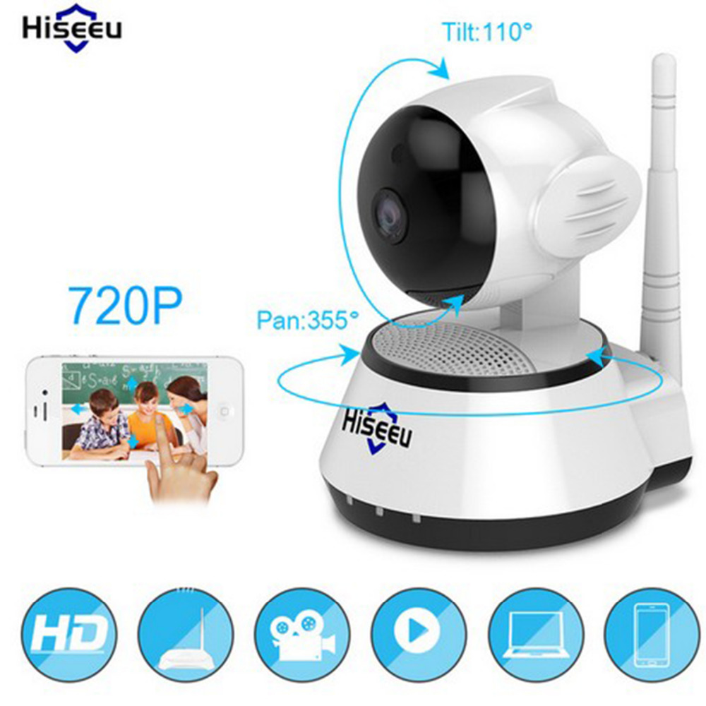 Hiseeu Home Security IP Camera Baby Monitor HD Mini CCTV Camera 720P Smart WiFi Camera Audio Record Surveillance Security Camera mini wifi 720p smart ip camera home security system