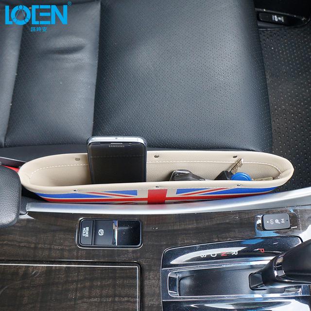 1 UNID Alta calidad teléfono Bolsa de almacenamiento de Asiento De Coche de Cuero clave dinero Pequeño objetos Organizador de bolsillo A Prueba de Fugas para Jaguar Land Rover vw