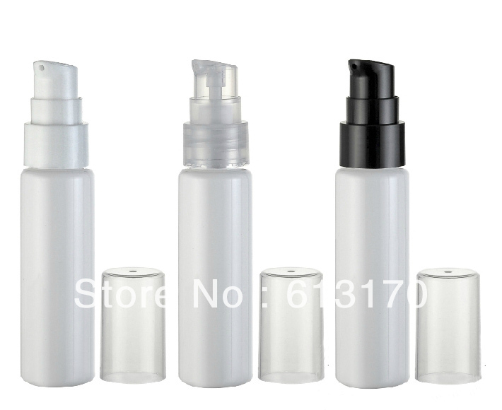 30ml Empty PET emulsion bottle small portable Press pump lotion bottles White refillable Cosmetic Packing container Free ship цена