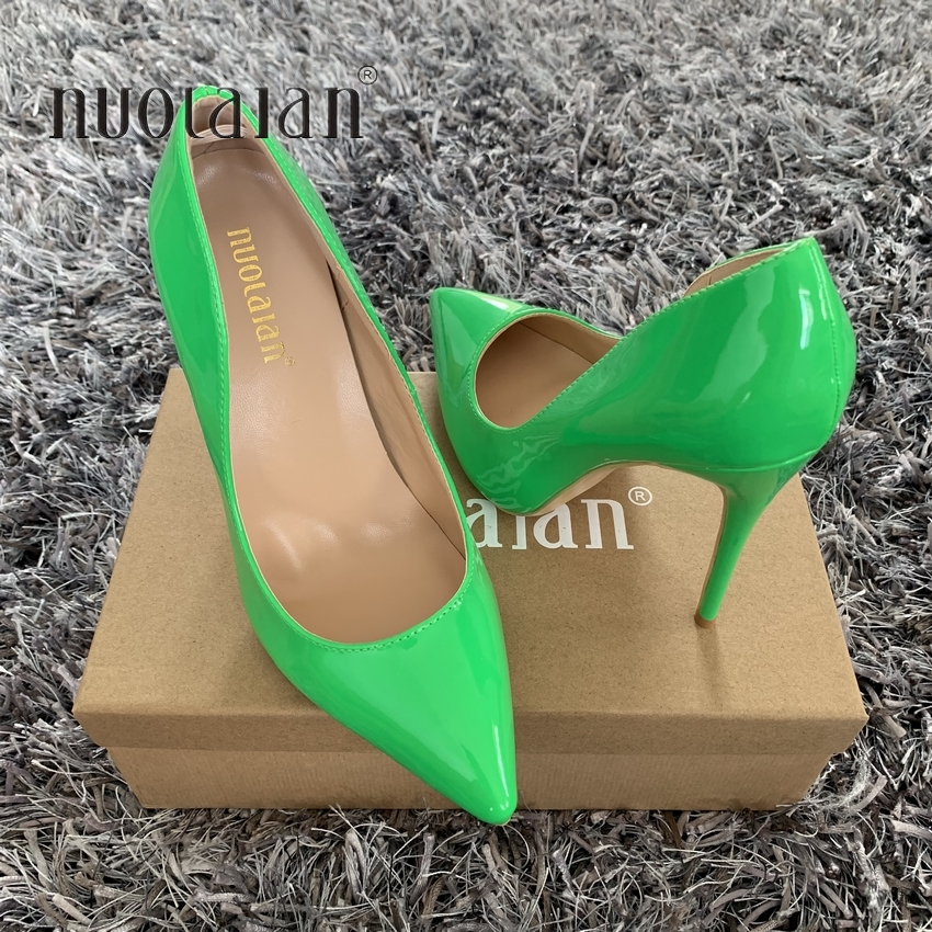 2019 Brand Shoes Woman High Heels Pumps High Heels Women Shoes party Wedding Shoes Pumps Patent Leather Shoes Thin Heel