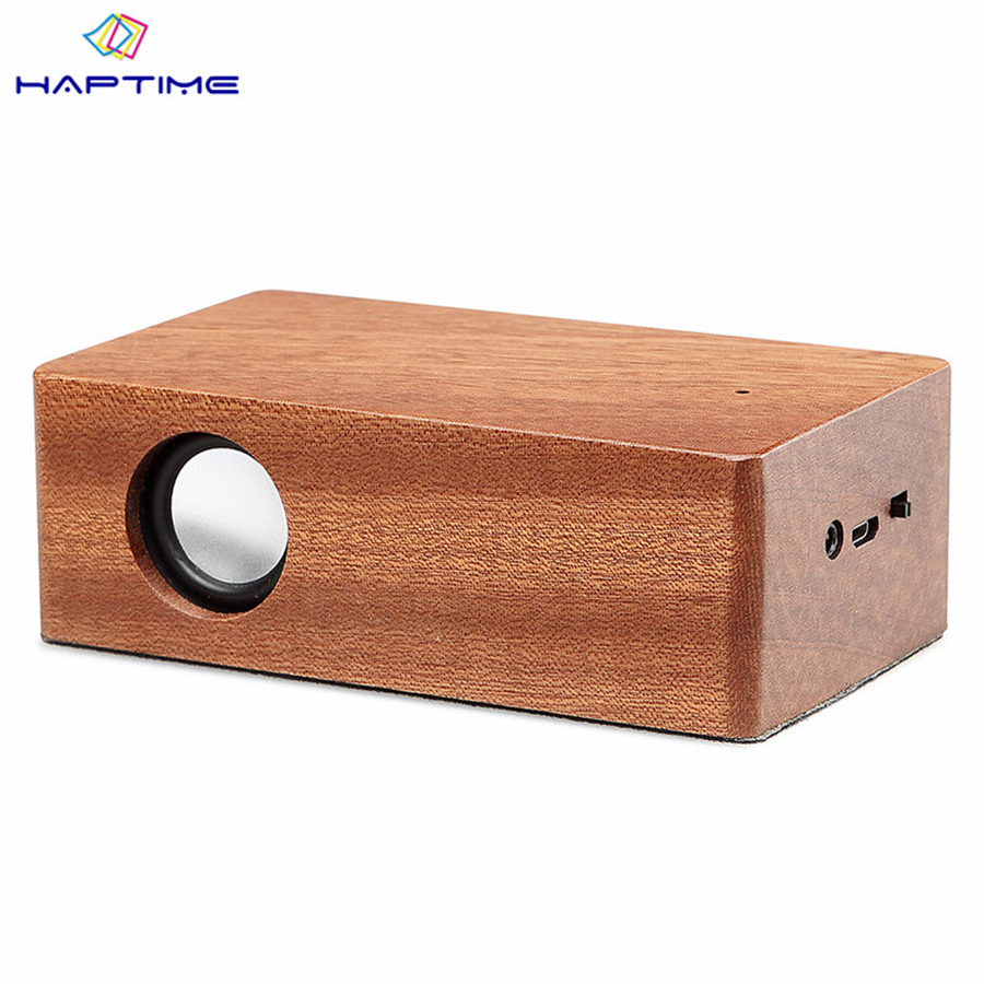 Haptime Portable Induction Speaker Wooden Automatic Sensing Connection Speaker Magic Induction Speaker Support Mobile Phone Ipad