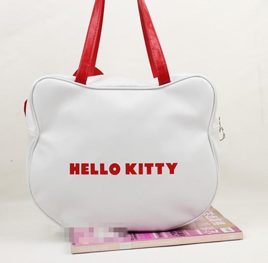 e08692b38f42 Hot sale Hello Kitty bags shopping bag handbag tote bag purse 1PC white  free ship 820002J-in Shoulder Bags from Luggage   Bags on Aliexpress.com